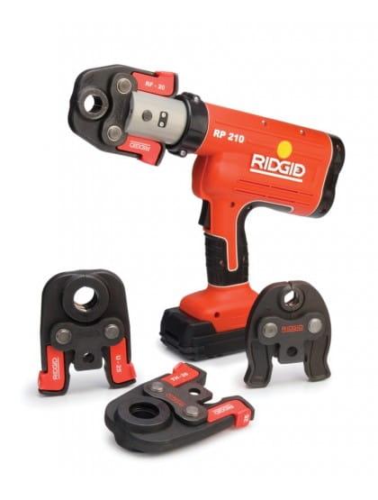 Пресс-инструмент RP 210-B и U-образные губки 16-20-25 мм с кейсом, аккумулятором и зарядным устройством