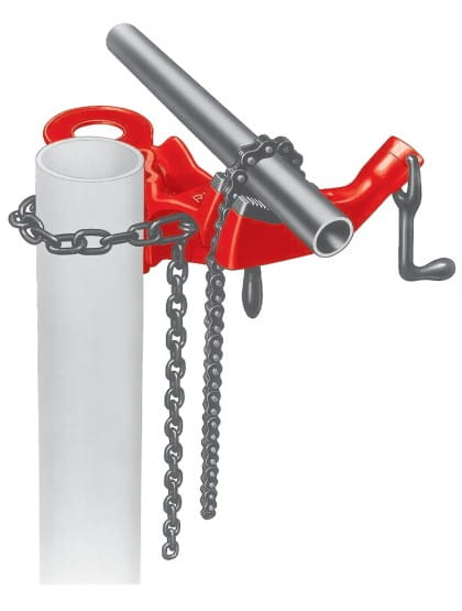 Тиски цепные на стойке с верхним винтом для труб RIDGID 640 1/8 - 5