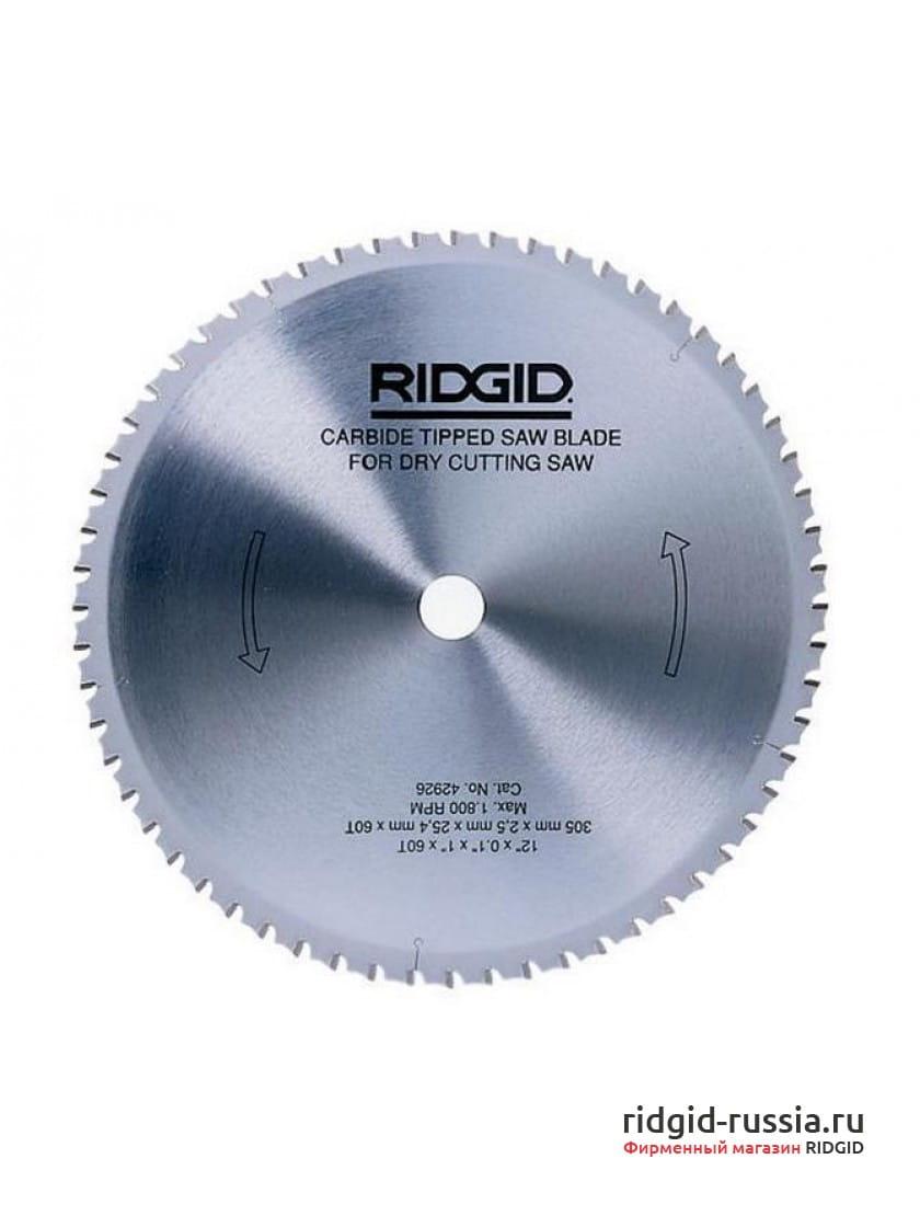 Диск твердосплавный для пилы RIDGID 590L 305 мм