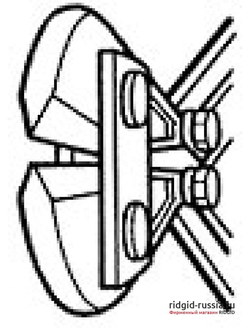 RIDGID 18363 Режущая головка S14 в сборе