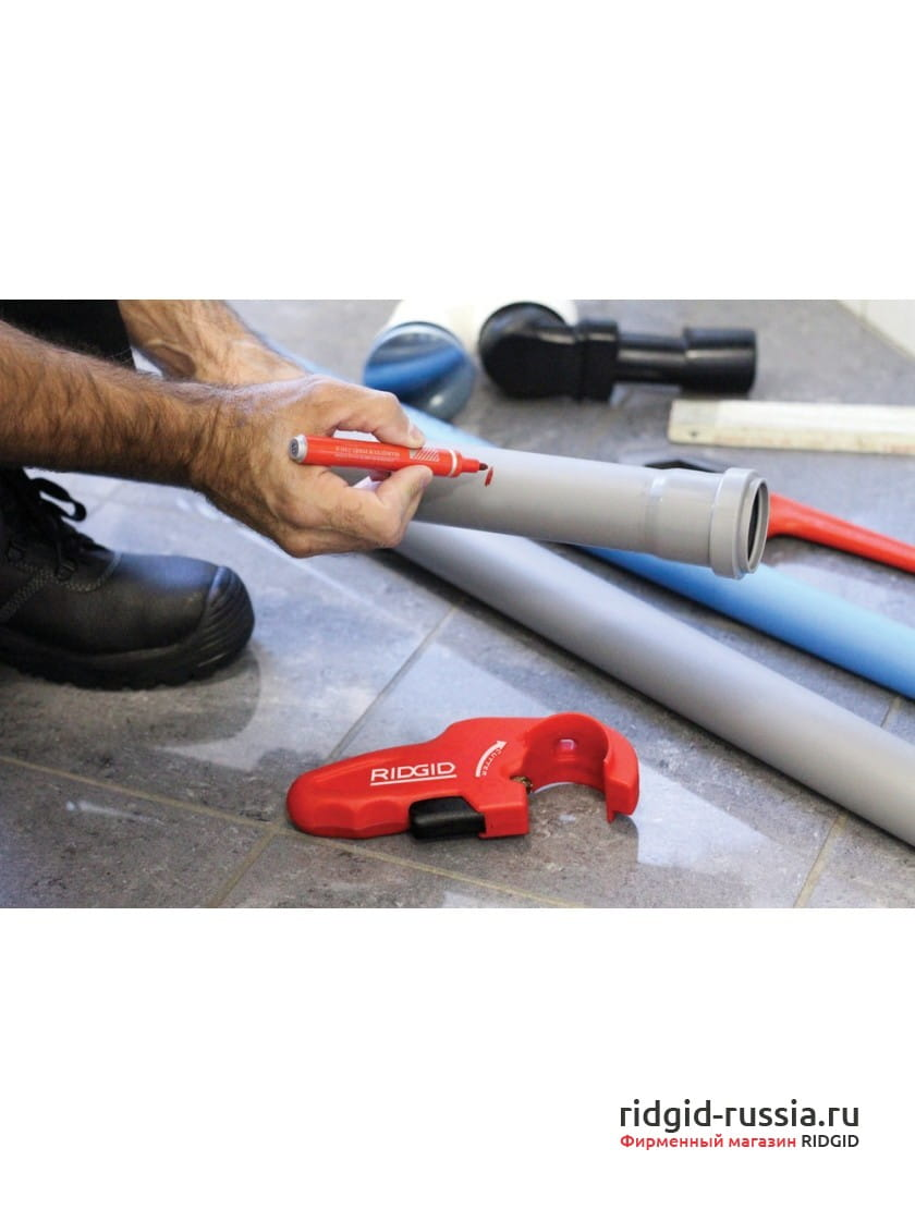 Труборез для пластиковых сточных труб RIDGID PTEC 5000