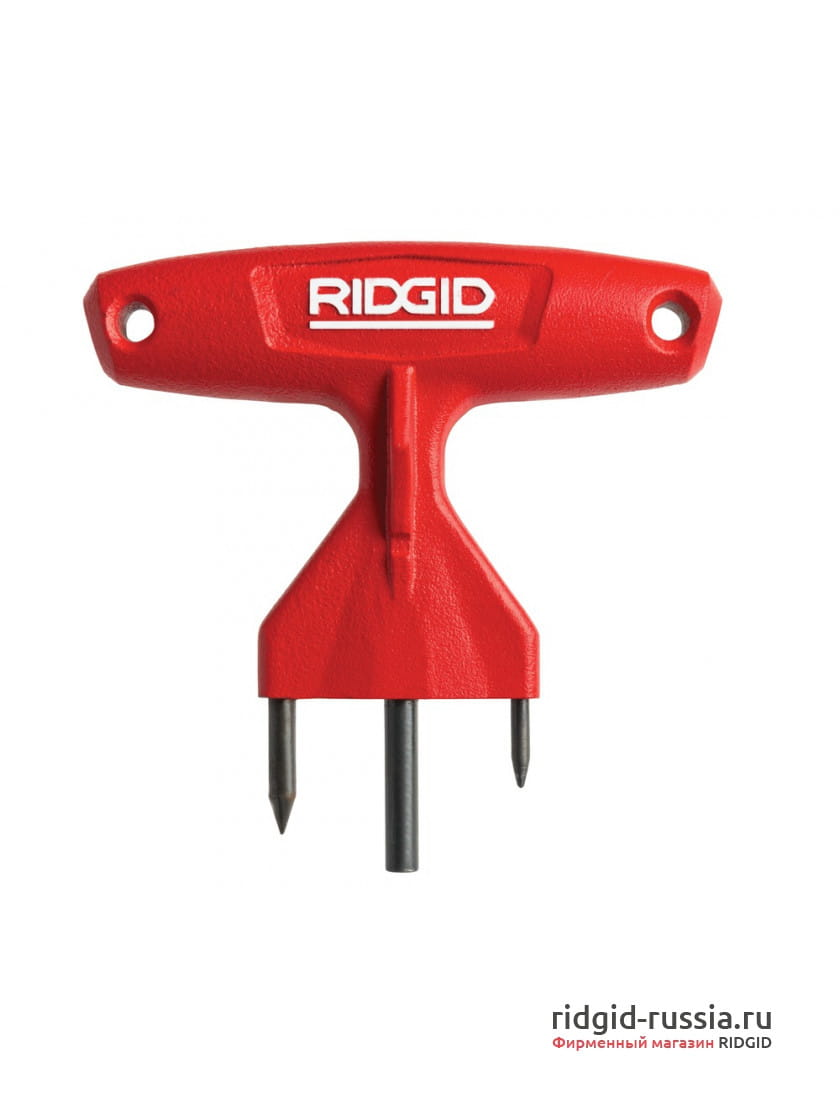 Трехзубцовый разъединитель секций прочистного троса Ridgid